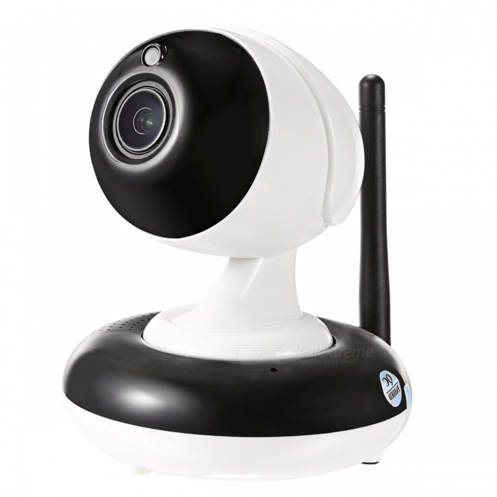 SunEyes SP-V905W 960P HD Wireless PTZ IP Camera with 3X Optical ZoomIP Cameras<br>Form  ColorWhite + BlackPower AdapterEU PlugModelSP-V905WMaterialABSQuantity1 pieceImage SensorCMOSImage Sensor SizeOthers,1/3 inchPixels1.3MPLensOthers,2.8-8mm Optical ZoomViewing AngleOthers,89.9-38.5 °Video Compressed FormatH.264Picture Resolution1280*960PFrame Rate25fpsInput/OutputSupportAudio Compression FormatOthers,G.726/G.711Minimum Illumination0.01 LuxNight VisionYesIR-LED Quantity12Night Vision Distance10 mWireless / WiFi802.11 b / g / nNetwork ProtocolTCP,IP,UDP,HTTP,SMTP,FTP,DHCP,NTP,DDNS,uPnP,PPPoE,TFTP,ARPSupported SystemsWindows 2000,2003,XP,Vista,7,Others,Win8,Win10Supported BrowserIE 6.0 and above,FirefoxSIM Card SlotNoOnline Visitor4IP ModeDynamicMobile Phone PlatformAndroid,iOSSmart AlarmMotion Detection AlarmsPTZ memoryFreeFree DDNSYesIR-CUTYesBuilt-in Memory / RAMNoLocal MemorySupportMemory CardMicro SD SlotMax. Memory Supported128GMotorYesRotation Angle355°,Tilt 90°Zoom3X Optical Zoom auto focusSupported LanguagesEnglish,Simplified ChineseWater-proofNoRate Voltage5VRated Current2 AIntercom FunctionYesCertificationCE, FCC, ROHSPacking List1 * Camera1 * Power adapter (AC 100~240V / EU plug / 110cm-cable)1 * English Manual1 * Screw1 * Network Cable<br>