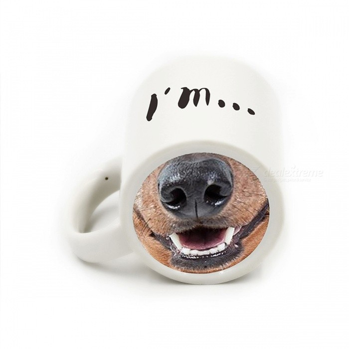 Creative Funny Dog Nose Ceramic Cup (400ml)