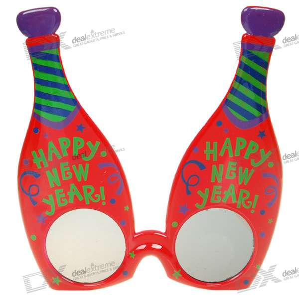 UV400 UV Protection Colorful Bottles Ornament Glasses (Color Assorted)