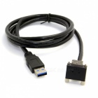 CY 3m 90 Degree Right Angled Micro USB to USB 3.0 Date Cable - Black
