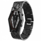 Attractive Unisex Electronic Watch w/ Lighting Function - Brown Grey