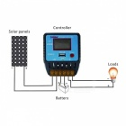 UEIUA CMKU-2410 24V 10A PWM Solar Charge Controller with LCD Display