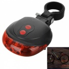Kitbon 5-LED + 2 Laser Bulbs 7-Mode Bicycle Tail Red Light for Warning