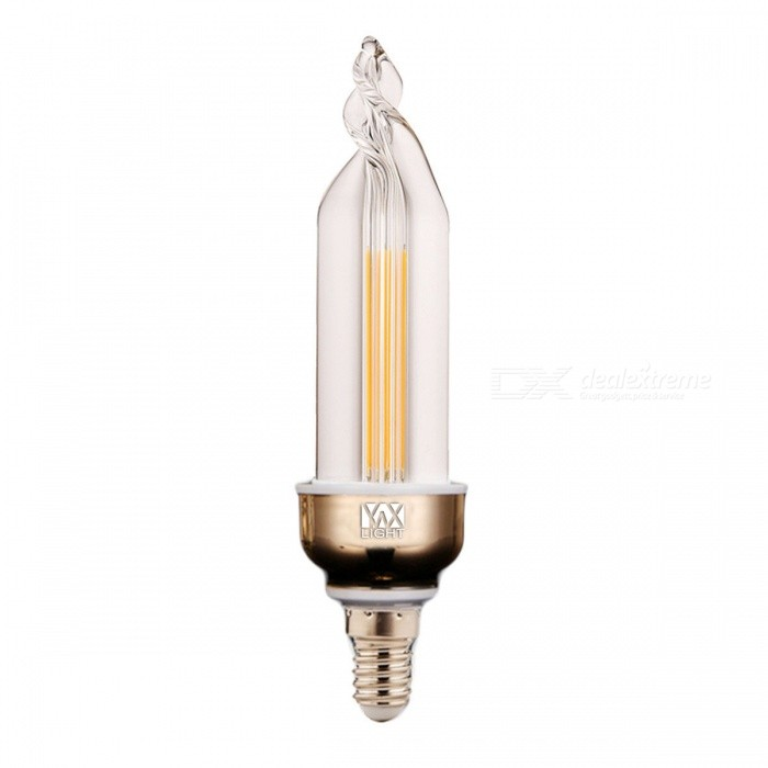 YWXLight E14 4W 2-LED COB Warm White Light Lamp - White + Orange
