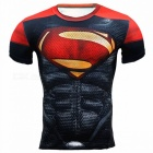 Outdoor Multi-functional Superman Short-sleeved Men's Tights (M)