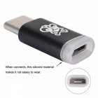 Hat-Prince USB Type-C to Micro USB Adapter Converter Connector - Black