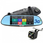 "Junsun 7"" 3G 1080P GPS Car DVR w/ Dual Camera Rearview (Russian Map)"