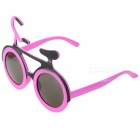 Eastor Funny Bicycle Style Party Glasses for Children - Pink + Black