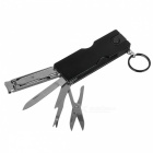 Outdoor Multi-functional Ultra-thin Small Nail Clipper Knife - Black