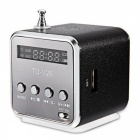 TD - V26 Mini Portable LCD Sound Speaker w/ FM Radio - Black