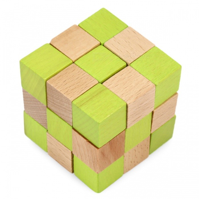 MAIKOU Beech Wood Sway Tail of Dragon Building Blocks - Mixed ColorEducational Toys<br>Form  ColorMixed colorMaterialWoodenQuantity1 DX.PCM.Model.AttributeModel.UnitSuitable Age 13-24 months,3-4 years,5-7 years,8-11 years,12-15 years,Grown upsPacking List1 * Blocks<br>