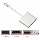 BSTUO USB 3.1 Type-C Male to USB3.0 / HDMI / Type-C Female Adapter