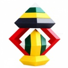 MAIKOU Rhombic ABS Cartoon Building Brick Toy - Multi-color (15 PCS)