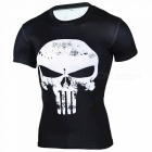 Outdoor Punisher Short-sleeved Men's Tights T-shirt (L)