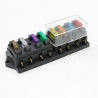 8 Way Car Truck Boat Ciruit Standard Blade Fuse Box Holder Block