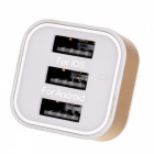 Cwxuan DC 5V 15W 1-Port USB Male to 3-Port USB Female Charge Adapter