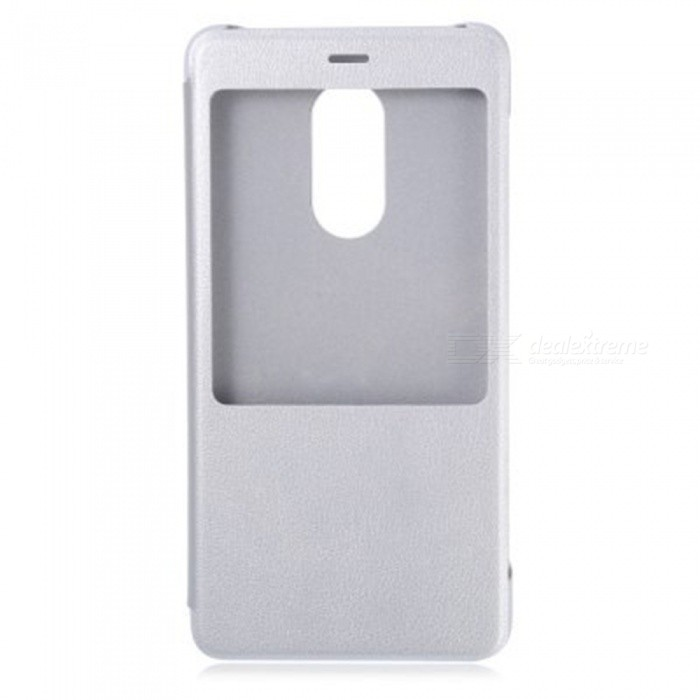 Original Protective Flip Leather Case for Xiaomi Redmi Note 4 - SilverLeather Cases<br>Form ColorSilverModelSilverMaterialPC + PUQuantity1 DX.PCM.Model.AttributeModel.UnitShade Of ColorSilverCompatible ModelsXiaomi Redmi Note 4FeaturesGlow-in-the-dark,Anti-slip,Shock-proof,Abrasion resistance,Easy-to-remove,Smart sleep wake case,Holder function,Smart window casePacking List1 * Protective Case<br>