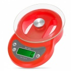 1g / 7Kg LCD Backlight Digital Kitchen Scale w/ Timer Function - Red