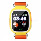 "1.22"" Touch Screen GPS Tracking GSM Smart Watch for Children - Orange"