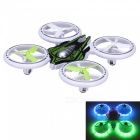 JXD 399 2.4GHz 4CH RC Quadcopter w/ Remote Controller - White + Green