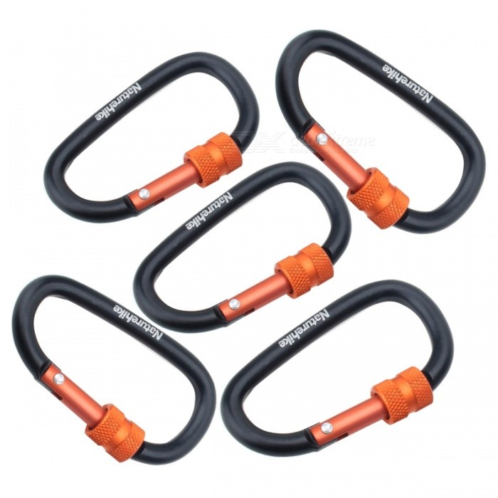 NatureHike 8cm Type-D Alloy Quick Release Buckle - Black (5 PCS)Form  ColorBlack + Red (5 PCS)ModelNH15A008-DQuantity1 DX.PCM.Model.AttributeModel.UnitMaterialAluminium alloyBest UseFamily &amp; car camping,Travel,CyclingCarabiner typeLocking carabinerWeight Limit25 DX.PCM.Model.AttributeModel.UnitLength8 DX.PCM.Model.AttributeModel.UnitSizeFree SizeTypeBackpack Accessories,Tactical BackpacksPacking List5 * Mountaineering buckles<br>