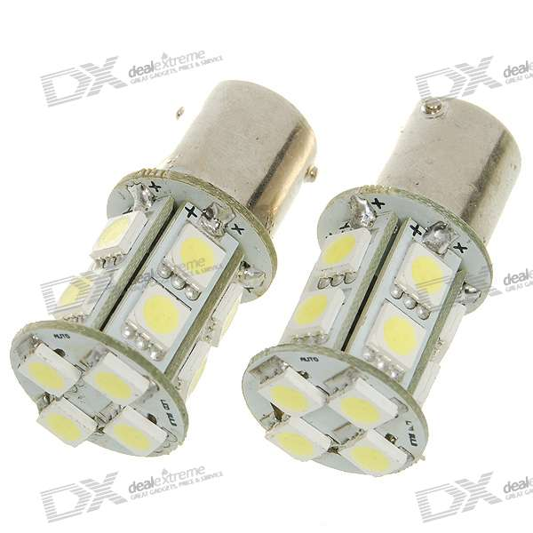 D1116A 3W 300-Lumen 14x5050 SMD LED Car White Light Bulb (Pair/DC 12V) 9006 6w 190 lumen 18x5050 smd led car white light bulb dc 12v