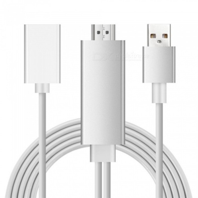 Cwxuan 1080P HDMI HDTV Adapter Cable for IPHONE / IPAD - Silver