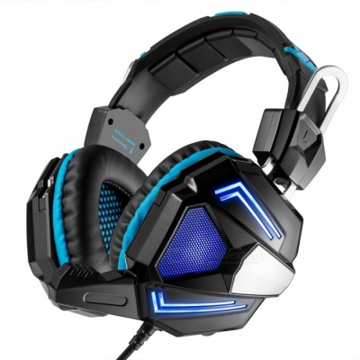 G5000 3.5mm Wired Bass Stereo Gaming Headset w/ Mic - Black + Blue