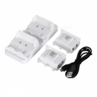 Double Battery Charger + Batteries Set for XBOX ONE S Control - White