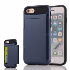 Premium PC + TPU Case w/ Card Slot for IPHONE 7 - Navy