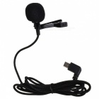 SJCAM Short External Microphone w/ Clip for SJ6, SJ7, SJ360 - Black