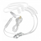 Cwxuan Sound Conduction Acoustic Air Tube Earphone w/ Mic - White