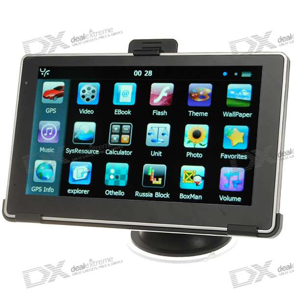 "6"" LCD Windows CE 6.0 Core 500MHz GPS Navigator w/FM Transmitter + Built-in 4GB Memory USA Map"