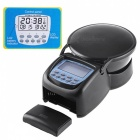 "Multifunction 2.5"" LCD Time Display Automatic Fish Feeder - Black"