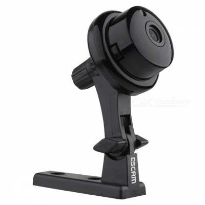 Escam Q6 ONVIF2.4.2 1.0MP Mini Wireless IP Camara  - Black (US Plugs)