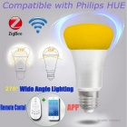 Jiawen E27 9W 31-3258SMD Home Dimmable Light Smart Bulb -Silver +White