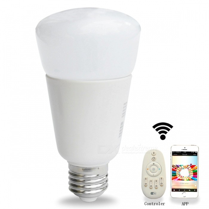 Jiawen E27 9W 31-3528SMD RGBW Dimmable Light Smart Bulb -Silver +WhiteE27<br>Color BINRGBWMaterialAluminum + plastic + glassForm ColorWhiteQuantity1 piecePower9WRated VoltageAC 100-240 VConnector TypeE27Chip BrandEpistarEmitter Type3528 SMD LEDTotal Emitters31Theoretical Lumens850 lumensActual Lumens850 lumensColor Temperature12000K,Others,-DimmableYesBeam Angle270 °Other FeaturesCompatible with Philips hue bridge 1.0 or 2.0Packing List1 * LED smart bulb<br>