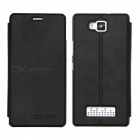 OCUBE PU + PC Case for Cubot Echo Mobile Phone - Black