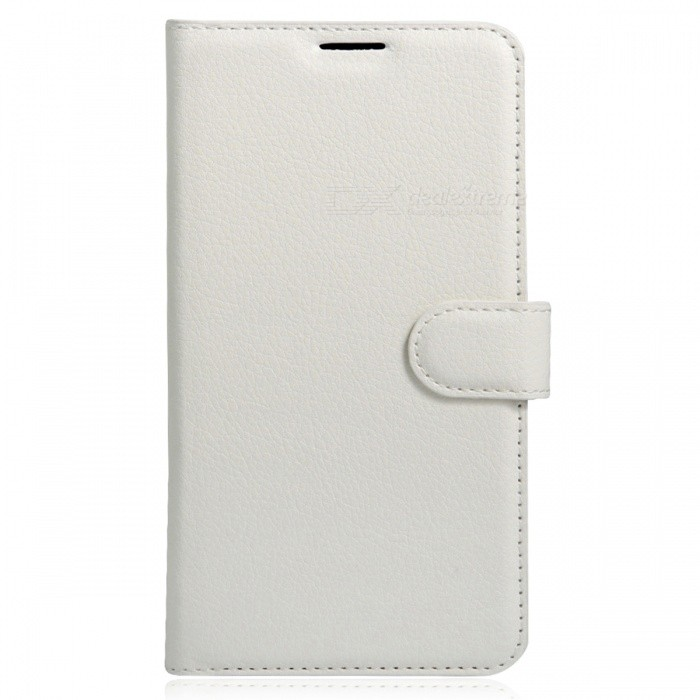 PU Leather Wallet Case w/ Card Slots for Xiaomi Redmi 3X - White