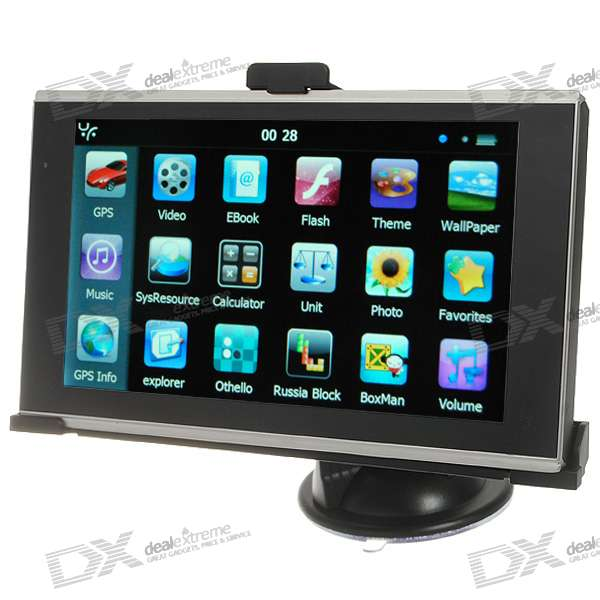 6.2 LCD Windows CE 6.0 Core 500MHz GPS Navigator w/FM Transmitter + Built-in 4GB Memory USA Map
