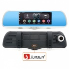 "Junsun 7"" FHD 1080P GPS Navigation Car DVR + Dual Lens Rearview Mirror"