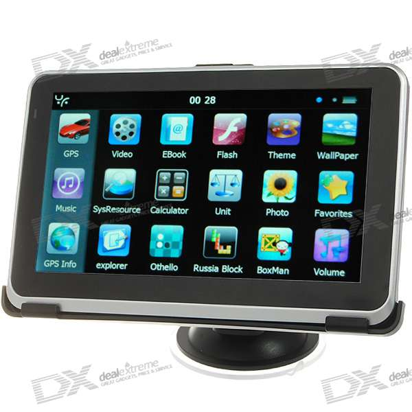 6 LCD Windows CE 6.0 Core 500MHz GPS Navigator w/FM Transmitter + Built-in 4GB Memory USA Map
