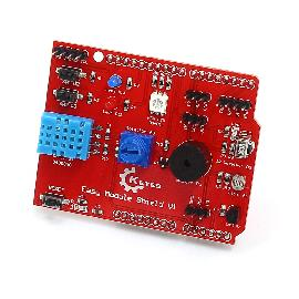 Keyes V1 FR4 Multi-Purpose Shield Learning Module for Arduino - Red