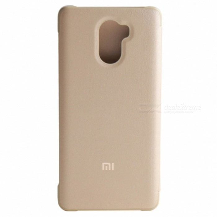 Original Xiaomi Ultra-thin Protective Case for Xiaomi Redmi 4 - GoldenLeather Cases<br>Form  ColorGolden (Redmi 4(2GB+16GB)Model-MaterialPC + PUQuantity1 DX.PCM.Model.AttributeModel.UnitShade Of ColorGoldCompatible ModelsXiaomi Redmi 4 (2GB RAM 16GB ROM)FeaturesAnti-slip,Dust-proof,Shock-proof,Abrasion resistance,Easy-to-removePacking List1 * Protective case<br>