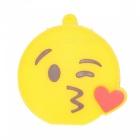 Emoji Face Throwing a Kiss 32GB USB2.0 Flash - Yellow + Red