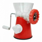 Simple ABS + Metal Household Meat Grinder Mincing Machine - Red