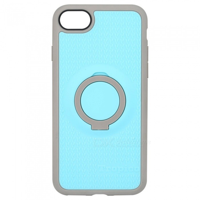 Benks Magnetic Protective Case w/ Ring Stand for IPHONE 7 - Blue+ GreyPlastic Cases<br>Form  ColorBlue + GreyModelTropicoQuantity1 DX.PCM.Model.AttributeModel.UnitMaterialTPU + PCCompatible ModelsiPhone 7DesignMixed Color,With Stand,Special ShapedStyleBack CasesCertificationRoHSOther FeaturesBenks 4 in 1 case combines elegant colors and design with functional features for you.<br>The ring can not be turned 360 degrees.<br>The ring phone stand is made of PC material<br>PROTECTIVE &amp; ANTI-SCRATCH: Shock Absorbing &amp; Scratch resistant for small drops &amp; raised lip edge protects the front screen and the cameraPacking List1 * Case<br>