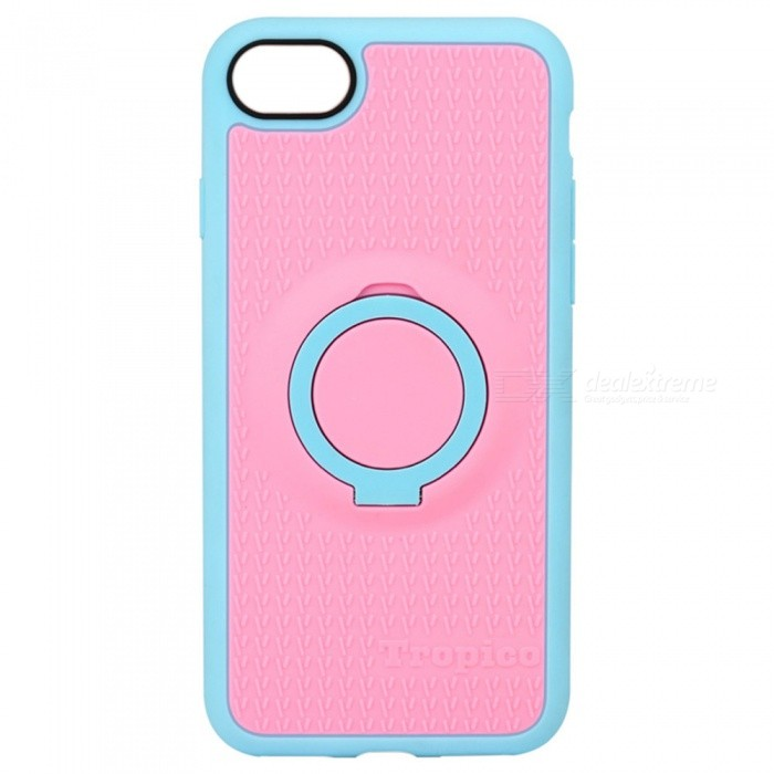 Benks Magnetic Protective Case w/ Ring Stand for IPHONE 7 - Pink +BluePlastic Cases<br>Form  ColorPink + BlueModelTropicoQuantity1 DX.PCM.Model.AttributeModel.UnitMaterialTPU + PCCompatible ModelsiPhone 7DesignMixed Color,With Stand,Special ShapedStyleBack CasesCertificationRoHSOther FeaturesBenks 4 in 1 case combines elegant colors and design with functional features for you.<br>The ring can not be turned 360 degrees.<br>The ring phone stand is made of PC material<br>PROTECTIVE &amp; ANTI-SCRATCH: Shock Absorbing &amp; Scratch resistant for small drops &amp; raised lip edge protects the front screen and the cameraPacking List1 * Case<br>