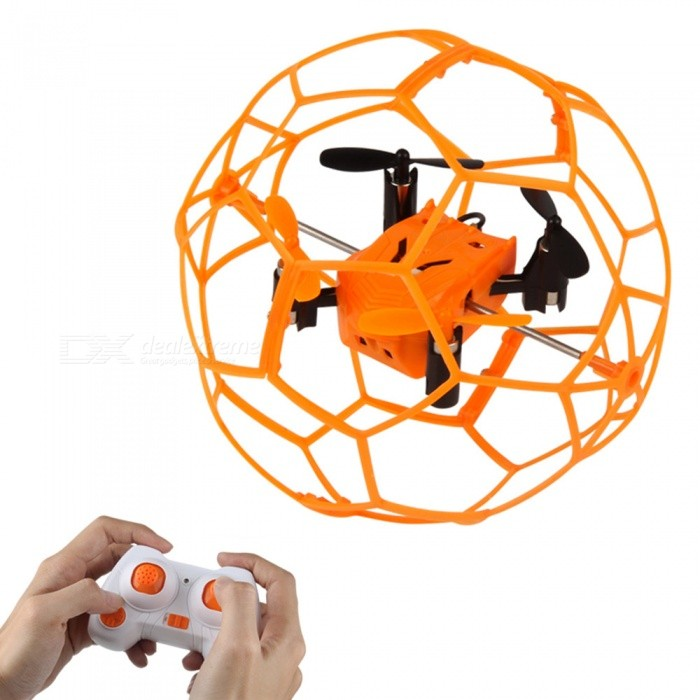 HelicMAX 1340 2.4GHz 4CH RC Quadcopter Flying Ball - OrangeOther R/C Toys<br>Form  ColorOrangeModel1340MaterialABSQuantity1 DX.PCM.Model.AttributeModel.UnitShade Of ColorOrangeGyroscopeYesChannels Quanlity4 DX.PCM.Model.AttributeModel.UnitFunctionUp,Down,Left,Right,Forward,Backward,Sideward flightRemote control frequency2.4GHzRemote TypeRadio ControlRemote Control Range30 DX.PCM.Model.AttributeModel.UnitIndoor/OutdoorOutdoorSuitable Age 12-15 years,Grown upsCameraNoCamera PixelNoLamp YesBattery Capacity200 DX.PCM.Model.AttributeModel.UnitBattery TypeLi-polymer batteryCharging Time45 DX.PCM.Model.AttributeModel.UnitWorking Time5 DX.PCM.Model.AttributeModel.UnitModelMode 2 (Left Throttle Hand)Remote Control TypeWirelessRemote Controller Battery TypeAAARemote Controller Battery Number2 (not included)Packing List1 * RC Quadcopter1 * Remote controller1 * USB Cable (60cm)4 * Spare Main Blades1 * Screwdriver1 *  English user manual<br>