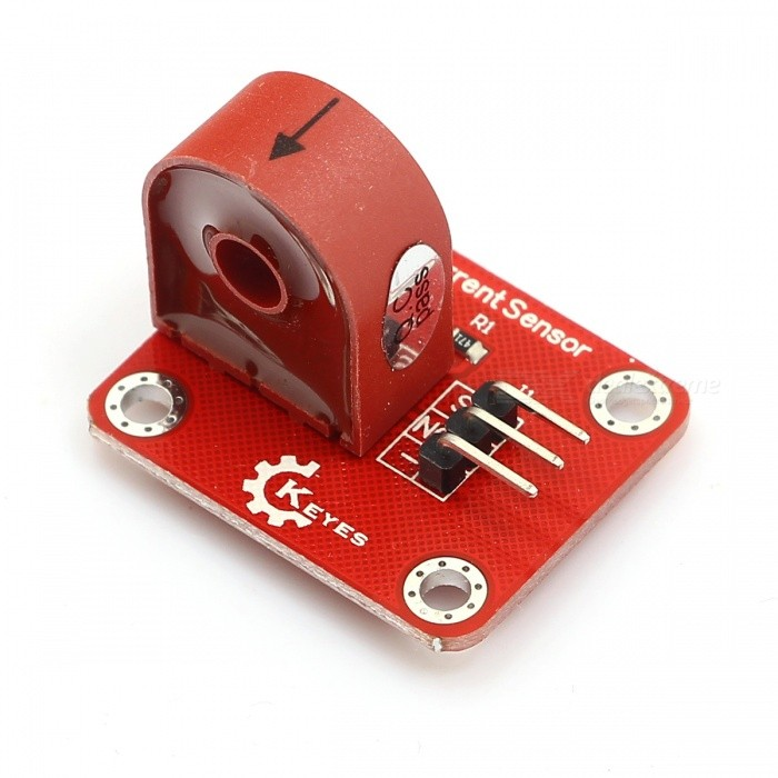 KEYES FR4 Current Sensor / Current Measuring Module for Arduino - RedSensors<br>Form ColorRedModelKY0137Quantity1 PieceMaterialFR4ApplicationUsed in ArduinoWorking Voltage   5 VEnglish Manual / SpecNoOther FeaturesWorking voltage: 5V<br><br>Measuring currentmaximum: 5A<br><br>Working frequency: 20Hz~20KHz<br><br>Data typeanalog: input<br><br>Flame retardance according with UL94-VO<br><br>Dielectric strength: 6000V AC/1min<br><br>Usagethe electrical appliance has remote distance monitoringused as input signal of electronic control system<br><br>Indicating paste failure measuring electrical quantity measuring,monitoring motor working state.Packing List1* Module<br>